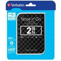 Image of Verbatim Portable Hard Drive 2tb Black