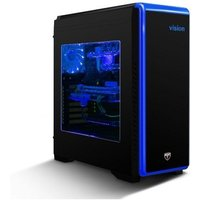 AvP Vision Mid Tower Black Case with Seven coloured Lighting