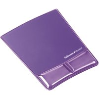 Fellowes Mouse Pad / Wrist Support with Microban Protection Purple