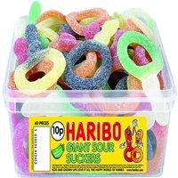 Haribo Giant Sour Suckers Tub
