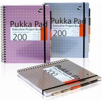 Pukka Pads A4 Executive Metallic Project Book Assorted - 3 Pack