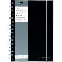 Pukkapad A5 Poly Jotta Notebook Black - 3 Pack