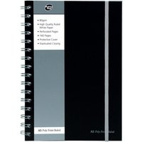 Pukkapad A5 Poly Jotta Notebook Black - 1 Pack