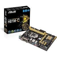 ASUS H81M-C LGA1150 socket  H81 chipset DDR3 upto 16Gb 1600Mhz uATX Motherboard