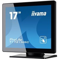 Iiyama ProLite T1721MSC-B1 - LED monitor - 17 - touchscreen - 1280 x 1024 - TN - 250 cd/mandsup2; - 1000:1 - 5 ms - DVI-D, VGA - speakers - black