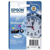 Image of Epson 27 Cyan Magenta Yellow Ink Cartridge (Pack of 3)