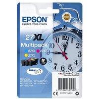 Image of Epson 27XL Cyan Magenta Yellow Cartridge (Pack of 3)
