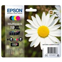 Epson Daisy 18XL Multi-Pack Ink Cartridges - Black, Cyan, Magenta, Yellow