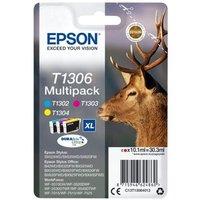 Image of Epson T1306 Cyan Magenta Yellow XHY Cartridge (Pack of 3)