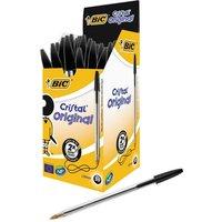 Bic Cristal Medium Ballpoint Black Pen - 50 Pack
