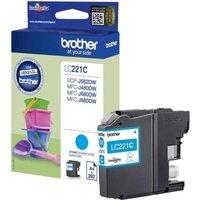 *Brother Standard Yield Cyan Ink Cartridge LC221C
