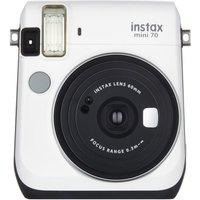 Fujifilm Instax Mini 70 Instant Camera - White inc 10 Shots