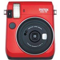 Fujifilm Instax Mini 70 Instant Camera - Red inc 10 Shots
