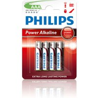 Philips Power Alkaline AAA LR03 Battery - Pack of 4 sale image