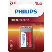 Philips Power Alkaline 9v Battery - Pack of 1
