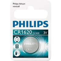 Philips Lithium Coin CR1620 Battery - Pack of 1 sale image