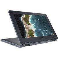 """ASUS Chromebook Flip C213, Intel Celeron Dual-Core N3350 1GHz, 4GB RAM, 32GB eMMC, 11.6"""" Touch, No-DVD, Intel HD, WIFI, Chr"""
