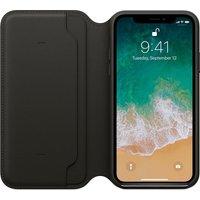 iPhone X Leather Folio - Black