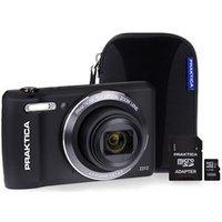 PRAKTICA Luxmedia Z212 Black Camera Kit inc 16GB MicroSD Card andamp; Case
