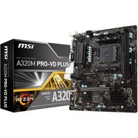 MSI A320M PRO-VD PLUS Socket AM4 DDR4 mATX Motherboard