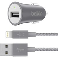 Universal Car Charger with Lightning Cable - Grey - F8J186BT04-GRY
