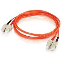 C2G, SC/SC LSZH Duplex 50/125 Multimode Fibre Patch Cable, 1m