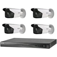 1 pcs 4-ch PoE NVR supports up to 4-ch IP video input 4 pcs PoE bullet network camera at 4MP resolution  1 TB HDD