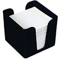 Value Deflecto Cubic Note Block And Holder - Black - CP053YTBLK
