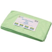 2Work Microfibre Cloth Green 400 x 400mm (Pack of 10)
