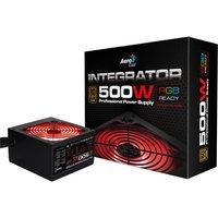 Aerocool Integrator 500W RGB PSU 12cm Black Fan Active PFC TW Caps UK Cable