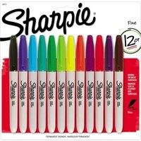 Image of Sharpie Fine Tip Assorted Marker Pen - 12 Pack