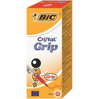 Bic Red Cristal Grip Medium Ballpoint Pen (Pack of 20)