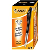 Bic Clic Ballpoint Pen Medium Black (Pack of 50)
