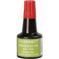 Q-Connect Red Endorsing Ink 28ml (Pack of 10)