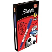 Image of Sharpie Blue Permanent Marker Fine (Pack of 12) S0810950