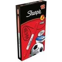 Image of Sharpie Red Permanent Marker Fine (Pack of 12) S0810940