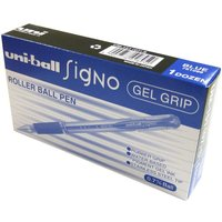 Uni-Ball Signo 0.7mm Blue Gel Grip Rollerball Pen (Pack of 12) 9003951