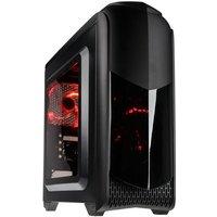 Punch Technology AMD Gaming PC, AMD A10-9700 3.5 GHz, 8GB DDR4, 1TB HDD, 120GB SSD, No-DVD, AMD R7, WIFI, Windows 10 Home