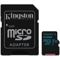 Kingston Canvas Go 64GB Micro SD Card with Adapter