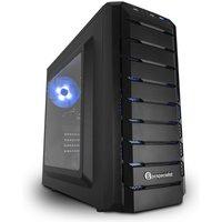 PC Specialist Vanquish Carbon Gaming PC, Intel Core i3-8100 3.6GHz, 8GB DDR4, 1TB HDD, No-DVD, NVIDIA GTX 1050Ti 4GB, WIFI, No Operating System