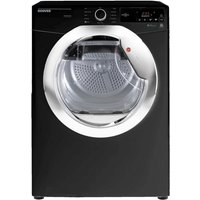 Hoover DXC8TCEB Freestanding 8kg Condenser Tumble Dryer Black with Chrome Door