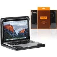"Broonel Vegan Leather Contour Laptop Sleeve for 15.6"" Laptops - Black"