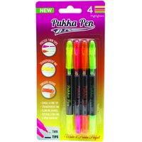Blister Pack of 4 Pukka Highlighter Pen Twin Tips