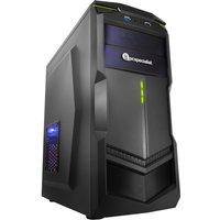 PC Specialist Vanquish Nexus Lite 1050Ti Gaming PC, AMD Ryzen 3 2200G 3.5GHz, 8GB DDR4, 1TB HDD, 120GB SSD, NVIDIA GTX 1050Ti 4GB, WIFI,