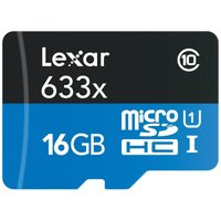 Lexar 633x HS 16GB microSDHC UHS-I C10 with Adapter