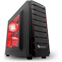 PC Specialist Vanquish Striker III Elite Gaming PC, AMD Ryzen 5 2600 6Core 3.4GHz, 8GB DDR4, 1TB HDD, 120GB SSD, NVIDIA GTX 1060 6GB, WIFI,