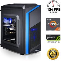 Chillblast Fusion 1050Ti Legion Extreme Gaming PC, AMD Ryzen 3 1200 3.1GHz, 8GB DDR4, 1TB HDD, 120GB SSD, NVIDIA GTX 1050Ti 4GB, WIFI, Windows 10 Home