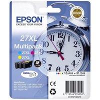 Image of Epson Ink/27XL Alarm Clock Cyan, Magenta, Yellow Multi-pack - C13T27154022