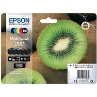 Image of Epson Ink/202 Kiwi Cyan Cartridge Multi-pack, Magenta, Yellow, Black, Photo Black