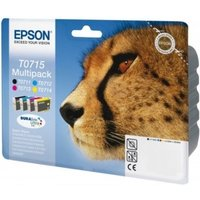 Image of Epson Ink/T0715 Cheetah 5.5ml Cyan, Magenta, Yellow, Black - C13T07154022